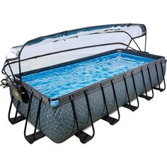 EXIT Frame Pool 5,4x2,5x1m mit Sonnendach, grau für 979,99€. Altersempfehlung: ab 4 Jahren. bei OTTO Homemade Swimming Pools, Diy Pool, Swimming Pools Backyard, Swimming Pool Enclosures, Kleiner Pool Design, Rectangle Pool, Small City Garden, Above Ground Pool Landscaping, Small Pool Design