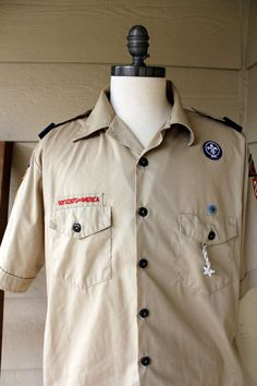 Vintage Boy Scouts Button down Shirt.