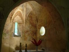 The church of light, Velemér, Hungary Built in the late century this Romanesque and early Gothic edifice has become world famous thanks to the frescos created by John Aquila around John. Church Of Light, Medieval Art, Romanesque, Hungary, Fresco, Budapest, Bugs, Gothic, Architecture