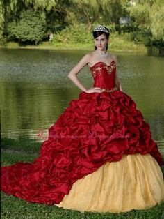 6462fbe1c59 Nice gold and red quinceanera dresses 2013 2017-2018 Check more at http