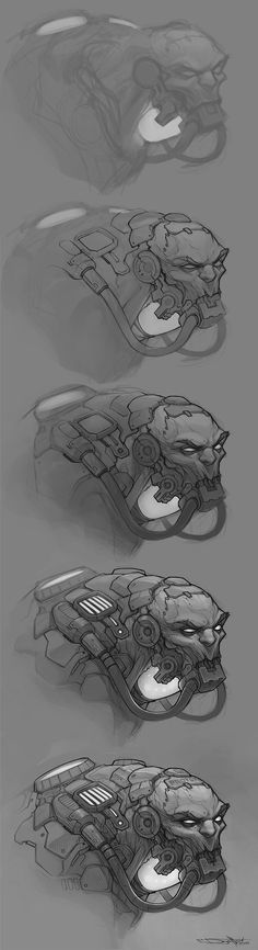 ArtStation - Gunstack sketch, Boris Dyatlov