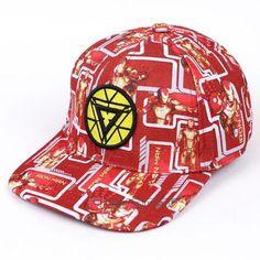Iron Man Amazing Streetwear Bright Red Yellow Cool Snapback 77ba515b624