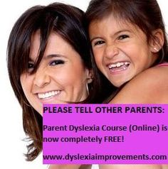 EXCITED PARENTS! It's yours now completely free and it's my gift to you because I want as many parents as possible to be able to help their own children with dyslexia! Enjoy the Parent Dyslexia Course and I hope it changes your child's life. Michael from Dyslexia Improvements. #Children #Videos #Reading #Tutoring #Teaching #Parents