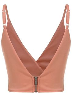 ROMWE offers Slip Zipper Crop Orange Cami Top & more to fit your fashionable needs.Shop [good_name] at ROMWE, discover more fashion styles online. Sewing Clothes, Diy Clothes, Clothes For Women, Bustiers, Blouse Styles, Blouse Designs, Saree Jackets, Leggings Depot, Jolie Lingerie