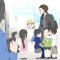 DRRR!! Little Aoba, Mikado and Masaomi are so cute!