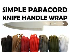 How To Wrap A Knife Handle With Paracord - Simple 3-5 Minute Wrap - YouTube