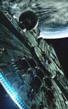 Awesome view of the Millennium Falcon - Star Wars