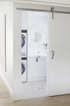 Advice, tricks, and also overview in the interest of obtaining the most ideal result as well as coming up with the optimum usage of Bathroom Remodel Ideas Small Small Laundry Rooms, Laundry In Bathroom, Small Bathroom, Laundry Powder, Washroom, Hamptons Style Decor, The Hamptons, Hamptons House, Bathroom Renos