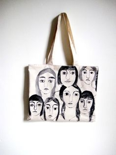 "Hand Painted ""GIRLS"" tote from leahgoren: SOLD"
