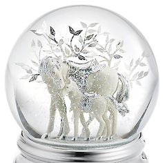Personalized Horse and Foal Musical Water Globe , Add Your Message