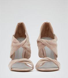 Womens Nude Wrap Detail Sandals - Reiss Daphne