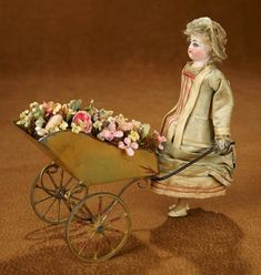 "Tears for Mina - March 2018 at the Hyatt Coconut Point, Naples, FL: 179 French Mechanical Toy ""Jardiniere"" by Roullet & Decamps Antique Toys, Vintage Toys, Beautiful Dolls, Dollhouse Miniatures, Vintage Christmas, Diy And Crafts, Whimsical, Auction, Animation"