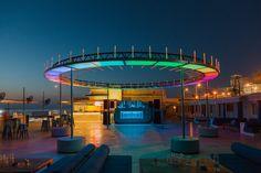 T SHAKI's portable nightclub transforms lebanese landmark into party destination