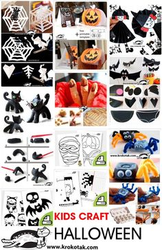 kid crafts for HALLOWEEn
