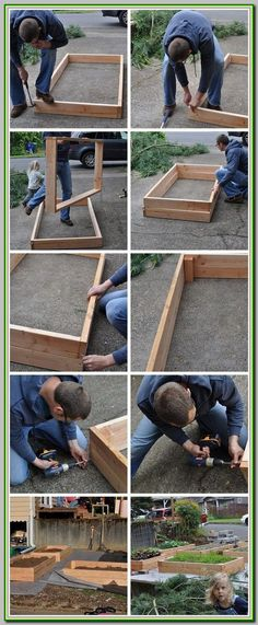 If space is an issue the answer is to use garden boxes. In this article we will show you how all about making raised garden boxes the easy way. Veg Garden, Garden Boxes, Garden Planters, Lawn And Garden, Easy Garden, Vegetable Gardening, Kitchen Gardening, Flower Gardening, Flowers Garden