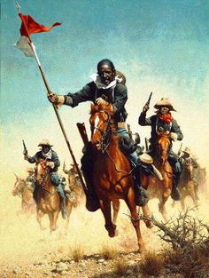 Learn more about the only museum in the USA dedicated primarily to the Buffalo Soldiers and African American Military History! American Indian Wars, American War, American Soldiers, African American History, American Indians, Frederic Remington, Military Art, Military History, Black Cowboys