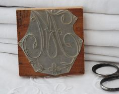 Antique French Embroidery Stamp Monogram by FrenchTouchBoutique