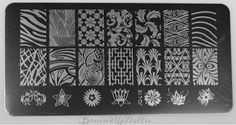 BruisedUpDollie Nails: LadyQueen Plate JQ-L19  http://www.ladyqueen.com/1pc-6-12cm-stainless-steel-new-design-diy-nail-art-image-stamp-stamping-plates-manicure-template-jq-l19-na0871.html  http://bruisedupdollienails.blogspot.com/2016/04/ladyqueen-plate-jq-l19.html