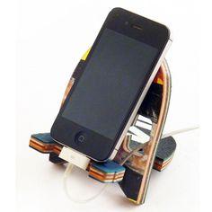Recycled Skateboard Phone Dock
