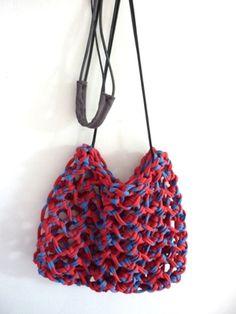 sac filet portzic rouge et bleu mariniere