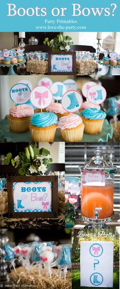 Boots or Bows Party Package Photography By Heartfelt Memories - Orange County,  https://www.etsy.com/listing/293325777/boots-or-bows-gender-reveal-party?ref=shop_home_active_9