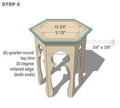 Hexagonal Moroccan Side Table Plans