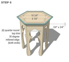 free moroccan side table plans step 6