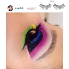 Have a nice weekend, Beauties! Pop colors #eyemakeup by Instagrammer, @Angela Inthasack with our #eyelashes style #NTR28.