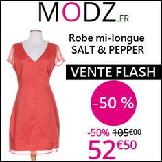 #missbonreduction; Vente Flash : économisez 50 % sur la Robe mi-longue SALT & PEPPER chez MODZ. http://www.miss-bon-reduction.fr//details-bon-reduction-MODZ-i852315-c1829353.html