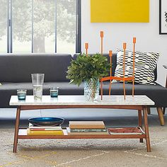 West Elm Reeve Mid Century Rectangular Coffee Table Online At Johnlewis