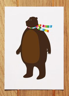 Mr Bear Postcard