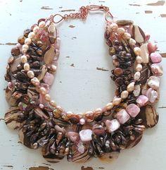 Bead Lover's Torsade - No18/Pink Zebra Jasper, MOP, FWPearl,