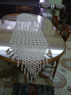 Antiguo Mantel-camino Tejido En Crochet -colecccion - $ 800,00 en MercadoLibre