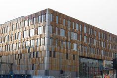 My new school building: Trondheim Business School in corten-steel in rusting process