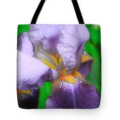 "Enhanced Iris One Tote Bag 18"" x 18"" by Mo Barton"
