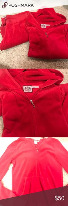 Juicy Couture Authentic Red Terry Cloth Juicy Couture Authentic Red Juicy Terry Cloth Jacket Top Juicy Couture Jackets & Coats Utility Jackets