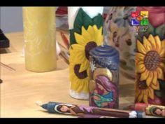 VELAS TALLADAS GIRASOLES - PARTE 2 - TALENTO ARTESANO - YouTube Hand Carved, Decoupage, Carving, Carved Candles, Ideas Creativas, Pasta Flexible, Diy, Instagram, Home Decor