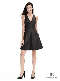 BR Monogram Leather Criss-Cross Dress