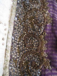 details on a vintage sari.