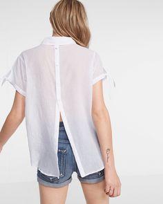 button back cotton top