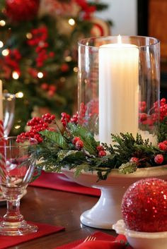 Holiday Tablescape via Sweet Something Designs