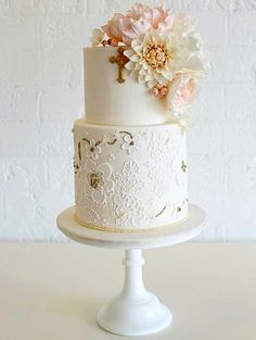 Ideas para decorar tortas de bautizo 15