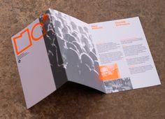 Designs Brochures - love the orange color!