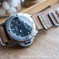 Be captivated Panerai Liminor 1950 Submersible 3 Days #pam305 #Grezzo #strapcode #26P26EPV02N5D12