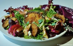 Try this delicious salad recipe featuring Dominex Eggplant Cutlets.