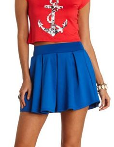 high-waisted pleated skater skirt - pair with a hot white top it would be hot