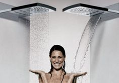 This is a cool showerhead, it can be like rain or water pouring.