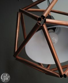 This DIY Geometric Copper Light Fixture Will Make A Huge Statement In Your Space But Is Simple To With Detailed Tutorial