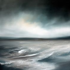 Paul Bennett - Seascape / Landscape 2011, Rise 1 - Oil on Canvas - 90cm X 90cm