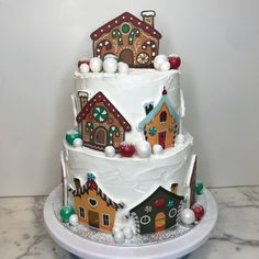 tarta navidad casitas Gingerbread, Cupcakes, Desserts, Food, Fondant Cakes, Lolly Cake, Candy Stations, Little Cottages, Xmas